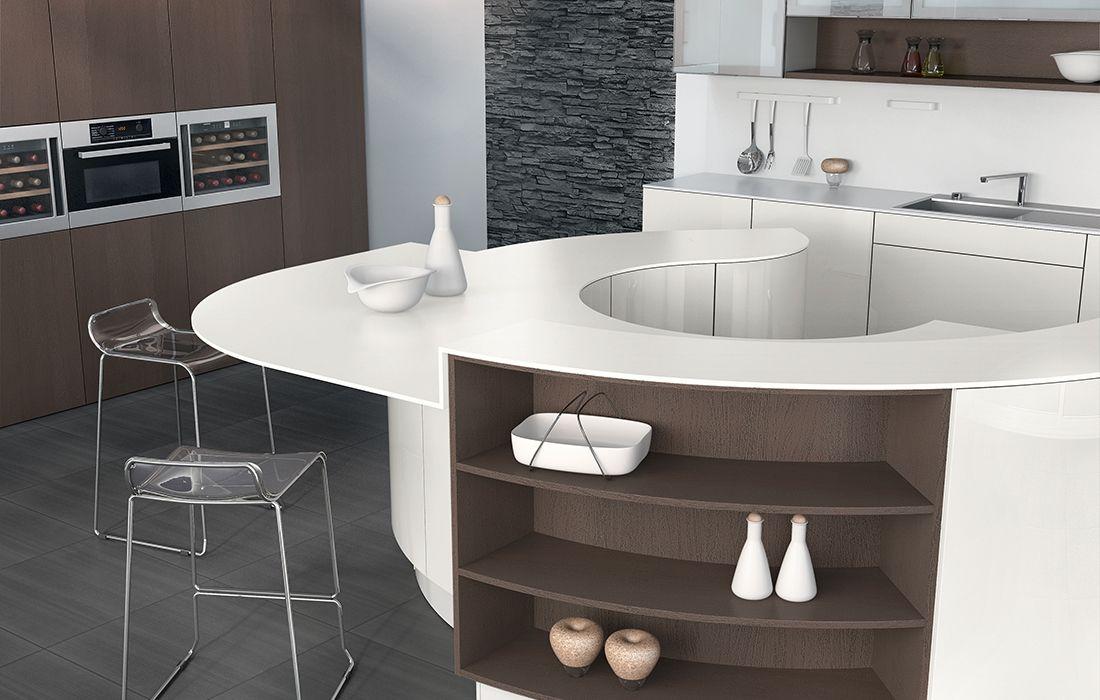 cuisine design avec ilot central rond avec. Black Bedroom Furniture Sets. Home Design Ideas