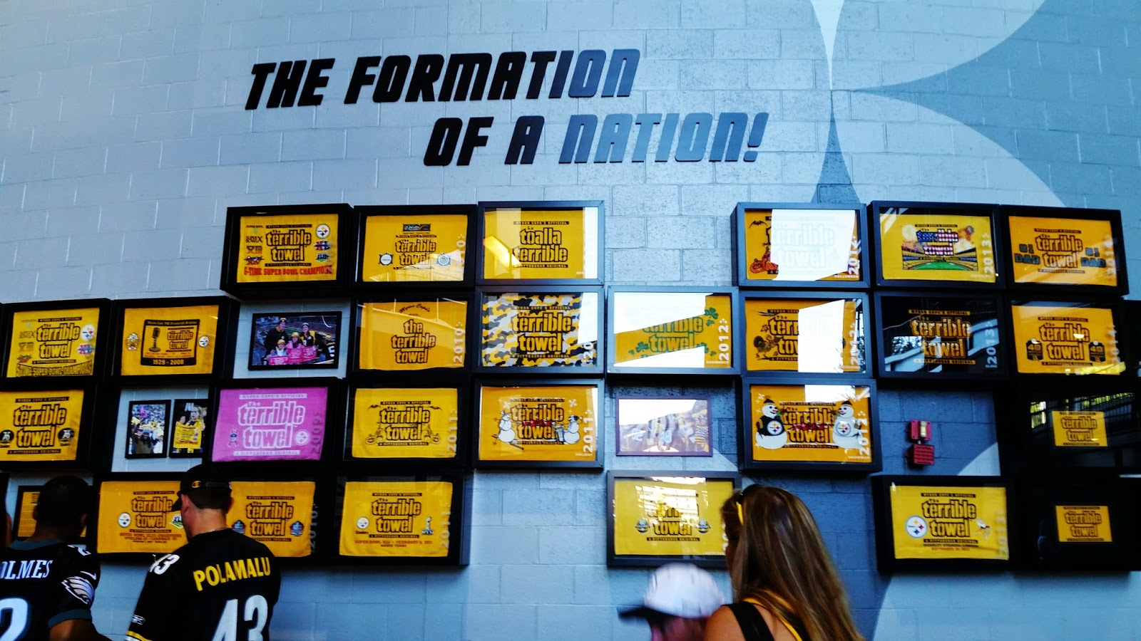 The wall of Terrible Towels Heinz Field