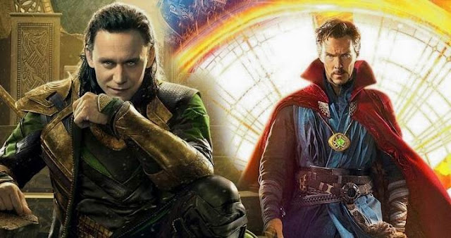 Tom Hiddleston y Doctor Strange en Thor: Ragnarok