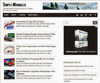 Simple Minimalis - Responsive Blogger Template