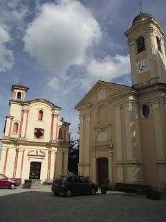 Piazza Umberto I in Mombaldone