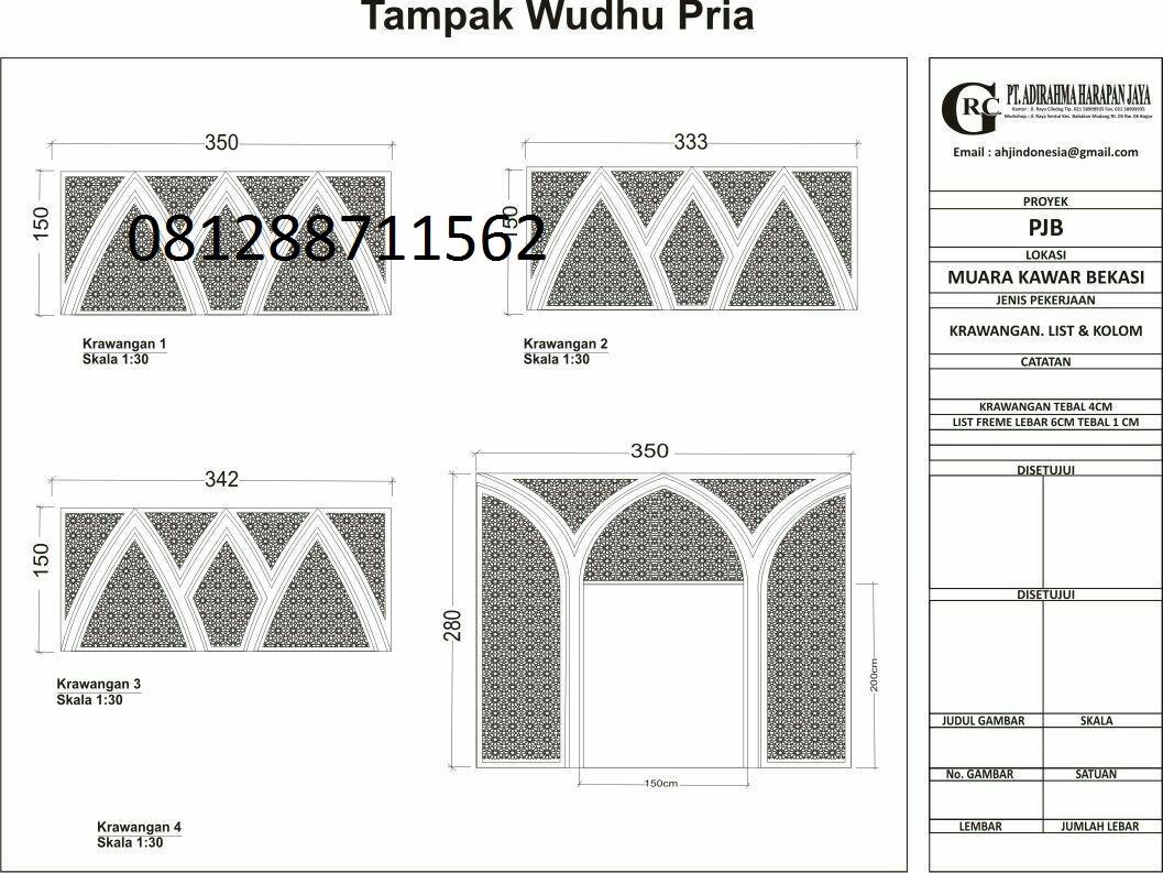 ornamen mihrab masjid: gambar ornamen dinding masjid, 081288711562 ...