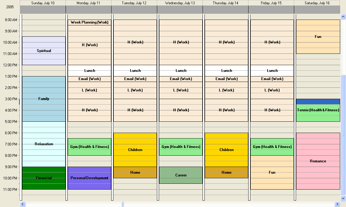 Time management 101 the weekly schedule wayne hedlund for Time management daily planner templates