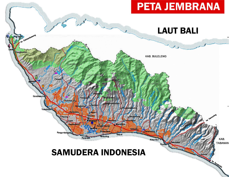 Peta Kabupaten Jembrana Bali Lengkap | Sejarah Indonesia ...