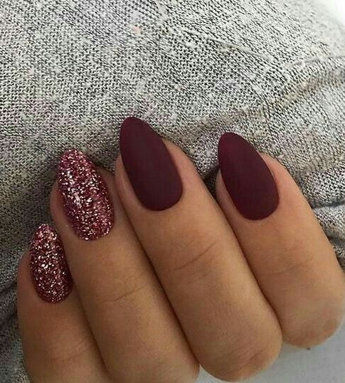 awesome matte and glitter nail art