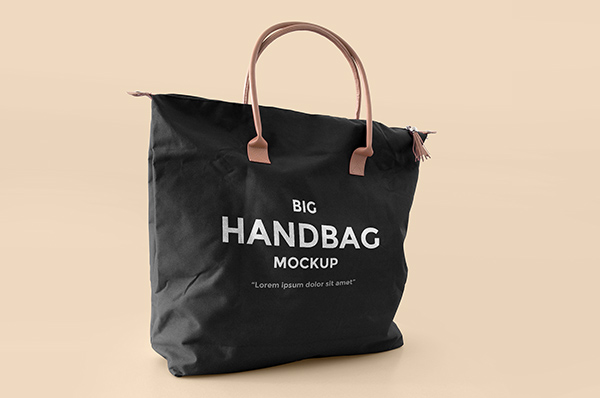 Download Template Mockup Terbaru - Big Handbag Mockup
