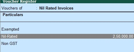 How to Create Nil Rated Sales Invoice under GST in Tally?