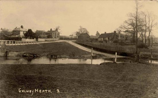 Postcard of Colney Heath in the 1900s Image courtesy of the Peter Miller Collection
