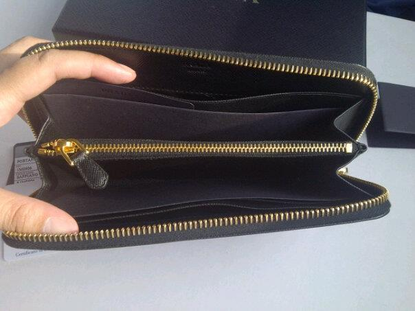 9b2bd28eb5b57b COACH FEVER MANIA - Sell Original Handbags in Malaysia: Prada Wallet  saffiano zipper NERO