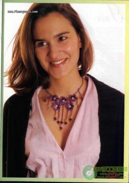 "Patron Crochet Gargantilla ""Baile de Violetas"""