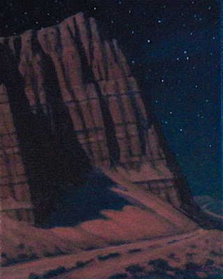 night painting cathedral valley capitol reef nocturne