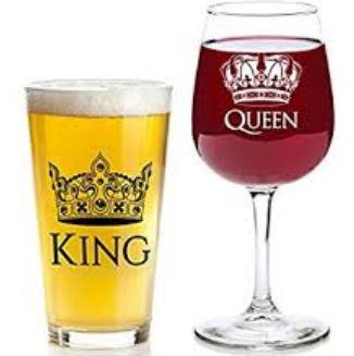 Gambar Desain Gelas Indah King dan Queen Keren