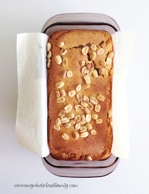 Peanut butter loaf - gluten and dairy free - from www.mywholefoodfamily.com