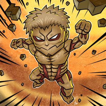 How To Draw Chibi Armored Titan From Attack On Titan How To Draw Manga