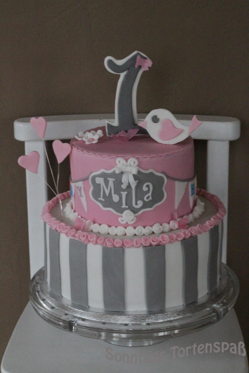 Kuchen Zum 1 Geburtstag Madchen Hylen Maddawards Com
