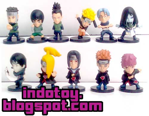 Jual Naruto Chibi Figure isi 20 indotoy toko online