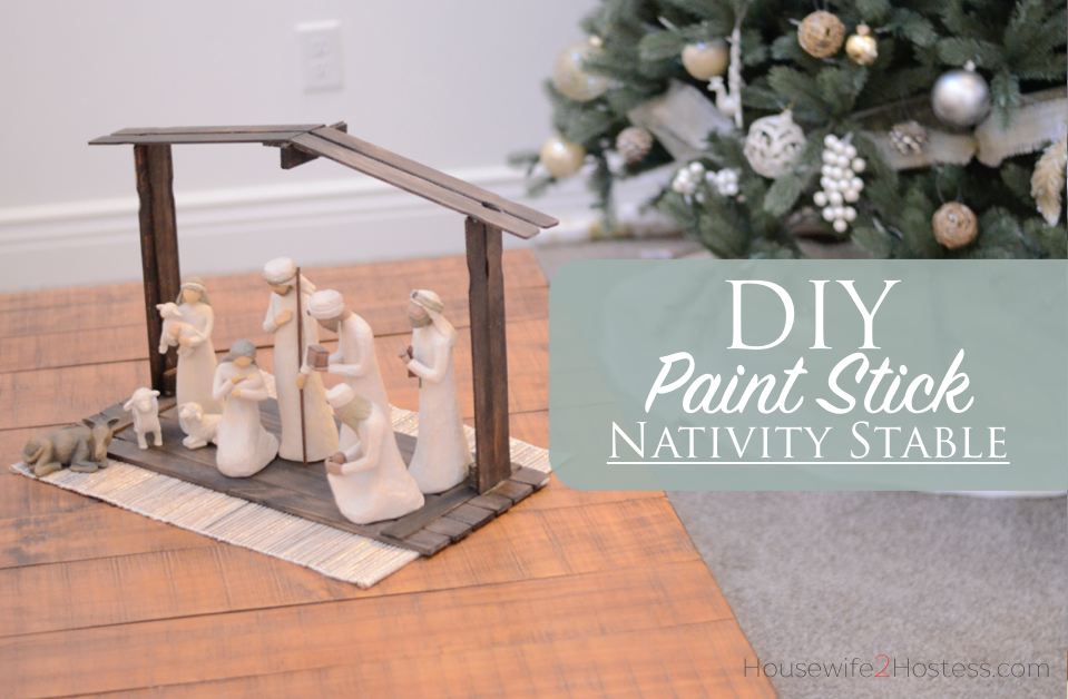 Diy Paint Stick Nativity Stable