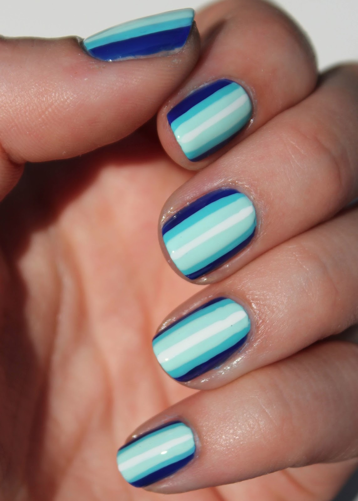 Ombre Nail Trend: Fundamentally Flawless: Blue Ombre Stripes Nail Art Tutorial