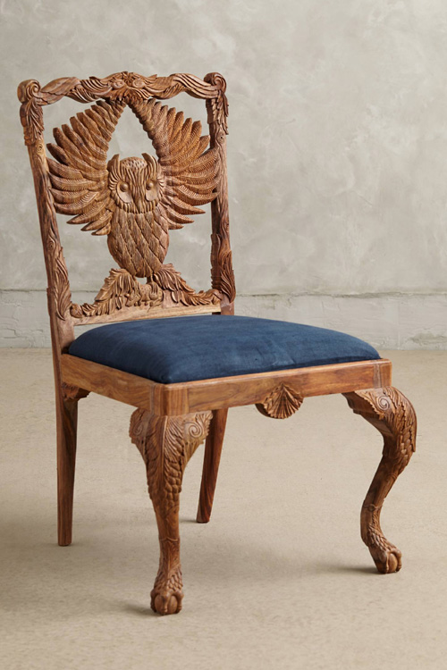 My Owl Barn Handcarved Menagerie of Armchairs