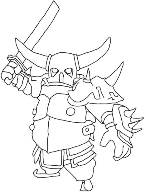 clash clans how to draw royale sketch coloring page