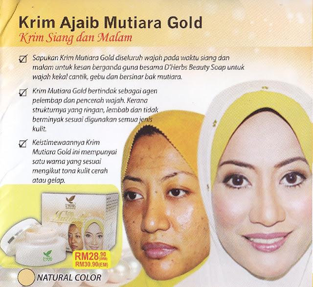Krim Mutiara Gold D'Herbs