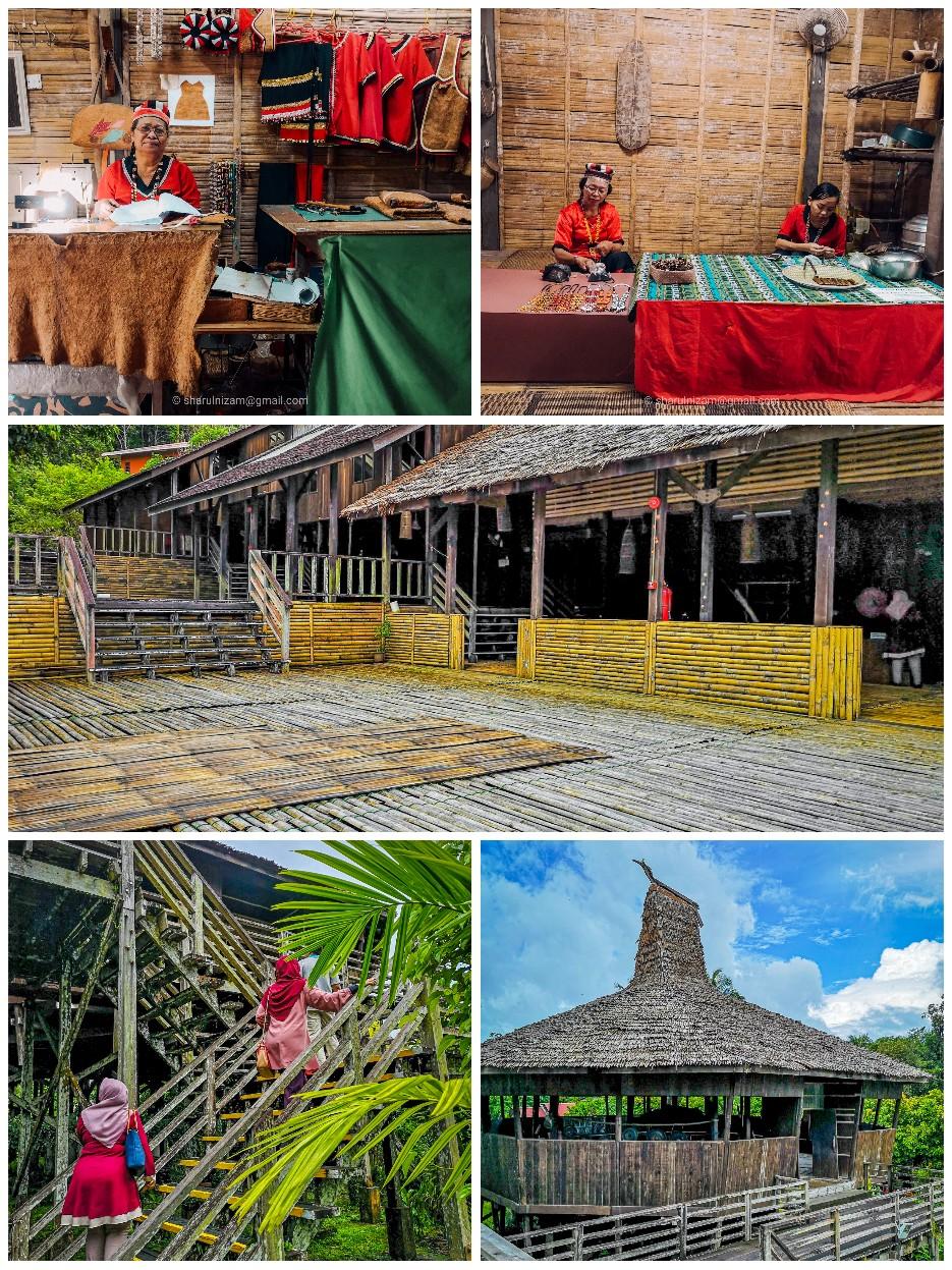 Melawat 7 Rumah Tradisional Di Sarawak Cultural Village
