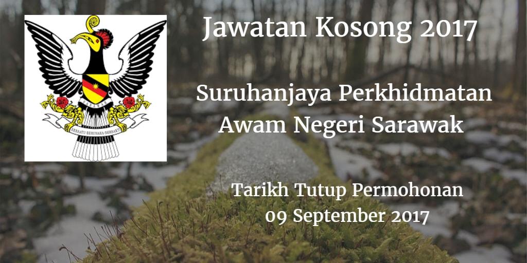 Jawatan Kosong Suruhanjaya Perkhidmatan Awam Negeri Sarawak 09 September 2017