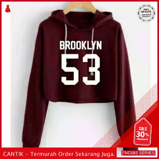 FNC085S22 Sweater Crop Hodie Brooklyn Wanita Hanya 40 Ribuan