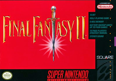 Picture of the front cover of Final Fantasy II for the Super Nintendo.