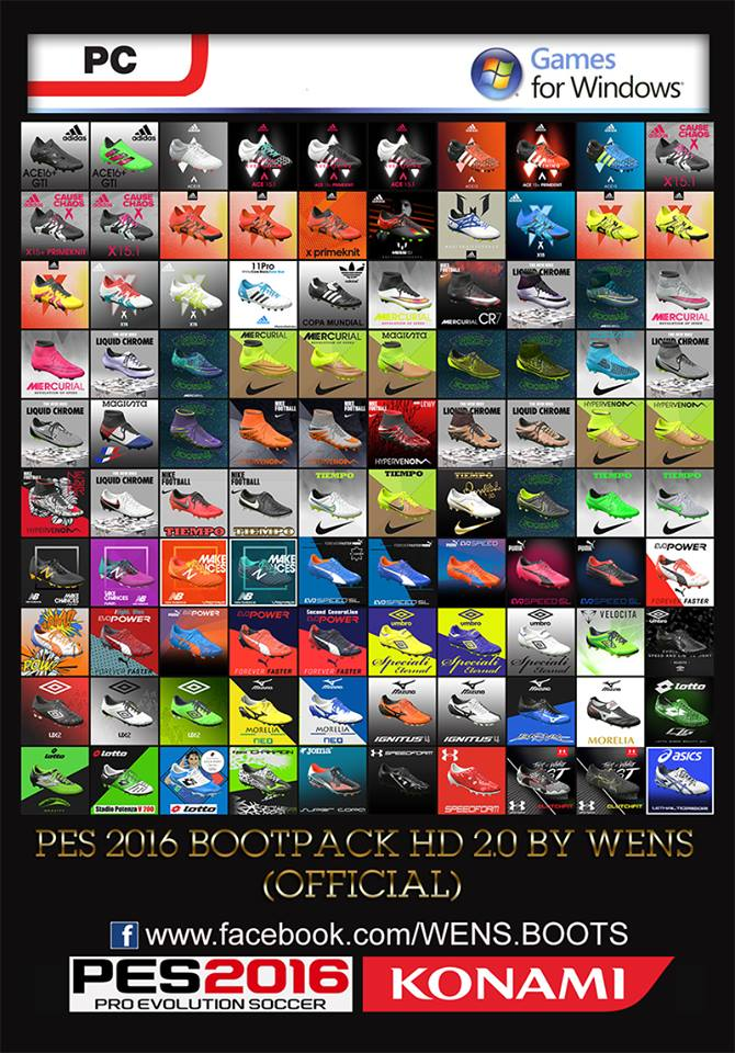 PES 2016 HD Bootpack 2.0 by WENS