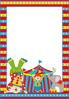 The Circus  Free Printable Invitations, Labels or Cards.