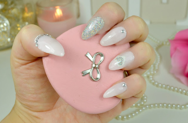 Valentines day - nail art - nail design - stiletto nails - at home - how to - tutorial - false nails - elegant touch