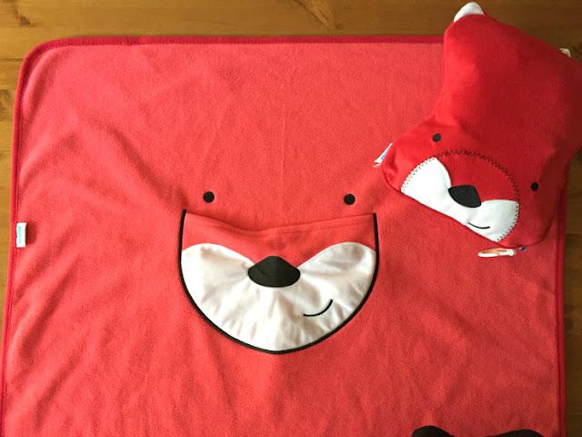 Snoozihedz Fuchs - Decke und Kissen in einem