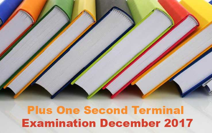 Plus One 2nd Terminal Examination TimeTable December 2017