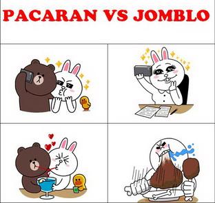 gambar dp bbm pacaran vs jomblo