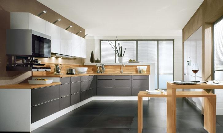 id es de conception de cuisine en forme de l d cor de. Black Bedroom Furniture Sets. Home Design Ideas