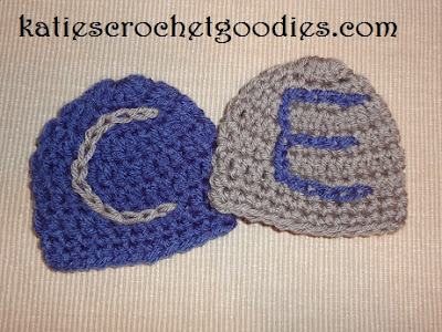 crochet letters on hat
