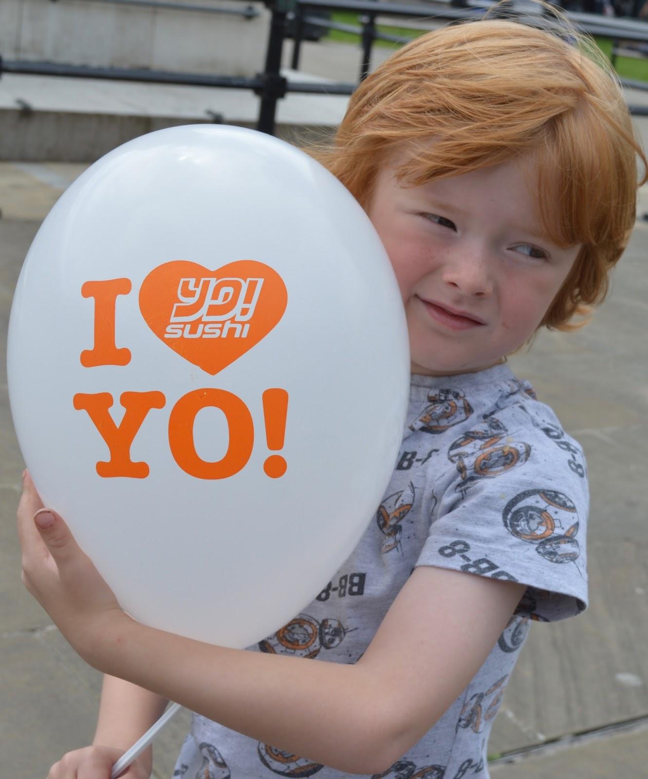 YO! Sushi Newcastle Grainger Street - Kids Menu Review - kids balloon