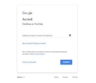 Accesso YouTube
