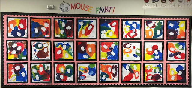 Cute bulletin board- Mouse Paint fun!