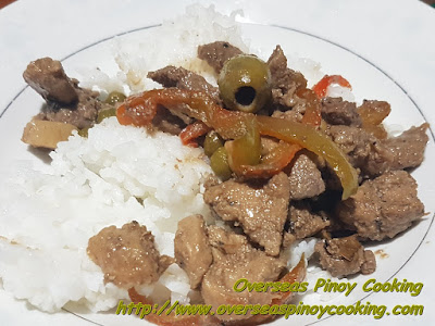 Igado with Olives Rice