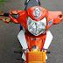 Sơn xe Honda Wave Alpha màu trắng cam đen [Wave_SG2021]