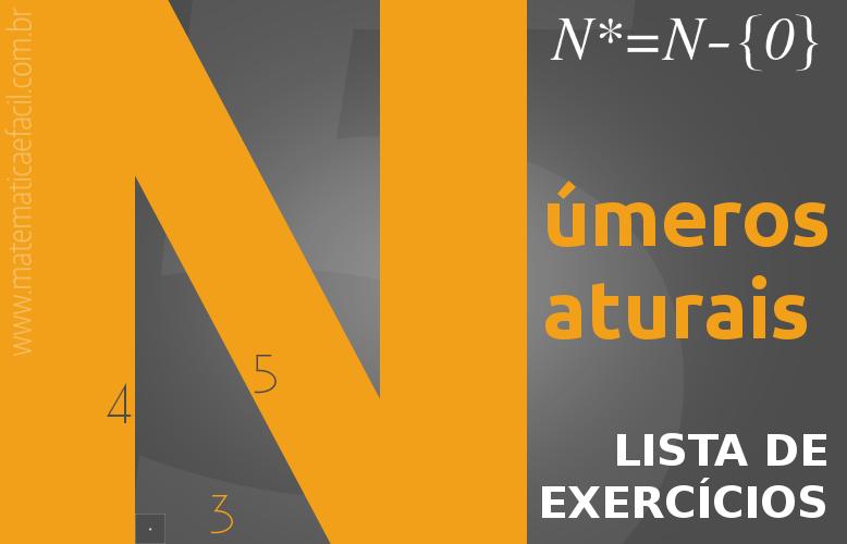Exercícios sobre números Naturais