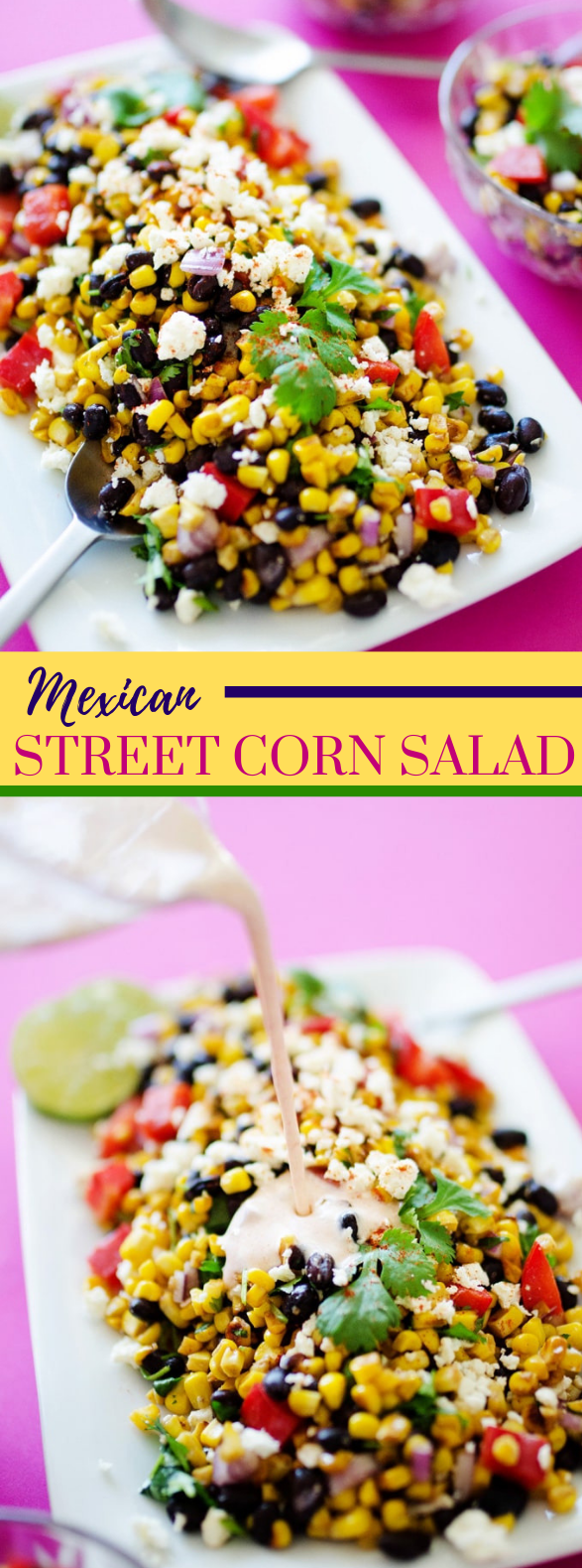 MEXICAN STREET CORN SALAD #vegetarian #mexicanfood