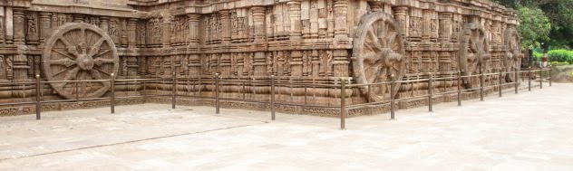 A cosmic walk among the chariots and the rich architecture of the Sun Temple at Konark, Odisha