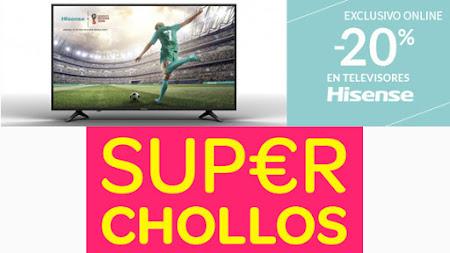Top 5 ofertas promociones -20% en TVs Hisense y Super Chollos de Carrefour Online