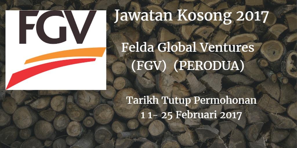 Jawatan Kosong FGV 11 - 25 Februari 2017