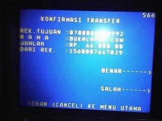 Transfer bank bukalapak
