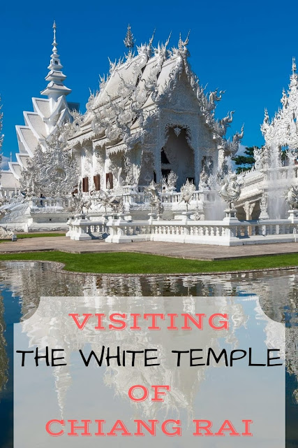 Photos and description of the white temple, or Wat Rong Khun, of Chiang Rai in Thailand, as well as information on how to get here and where to stay