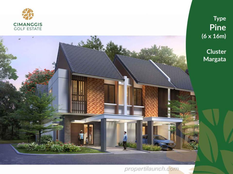 Rumah Cimanggis Golf Estate cluster Margata tipe PINE